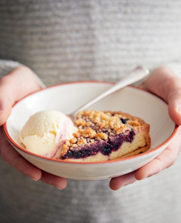 Berry Crumble Frangipane Tart