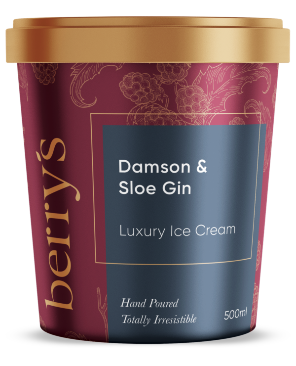 Damson & Sloe Gin Ice Cream
