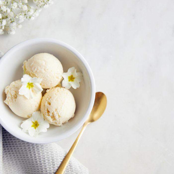 Gooseberry and Elderflower ice cream