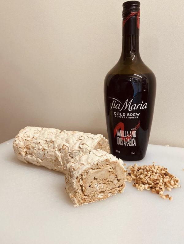 Hazelnut Praline & Coffee Liqueur Roulade